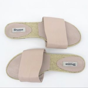 Dune London | Rose Pink Leather Slides | Size 9